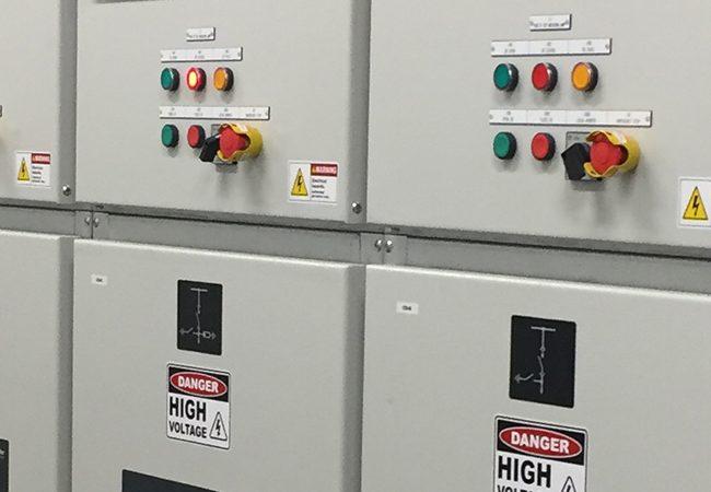 High voltage control panel