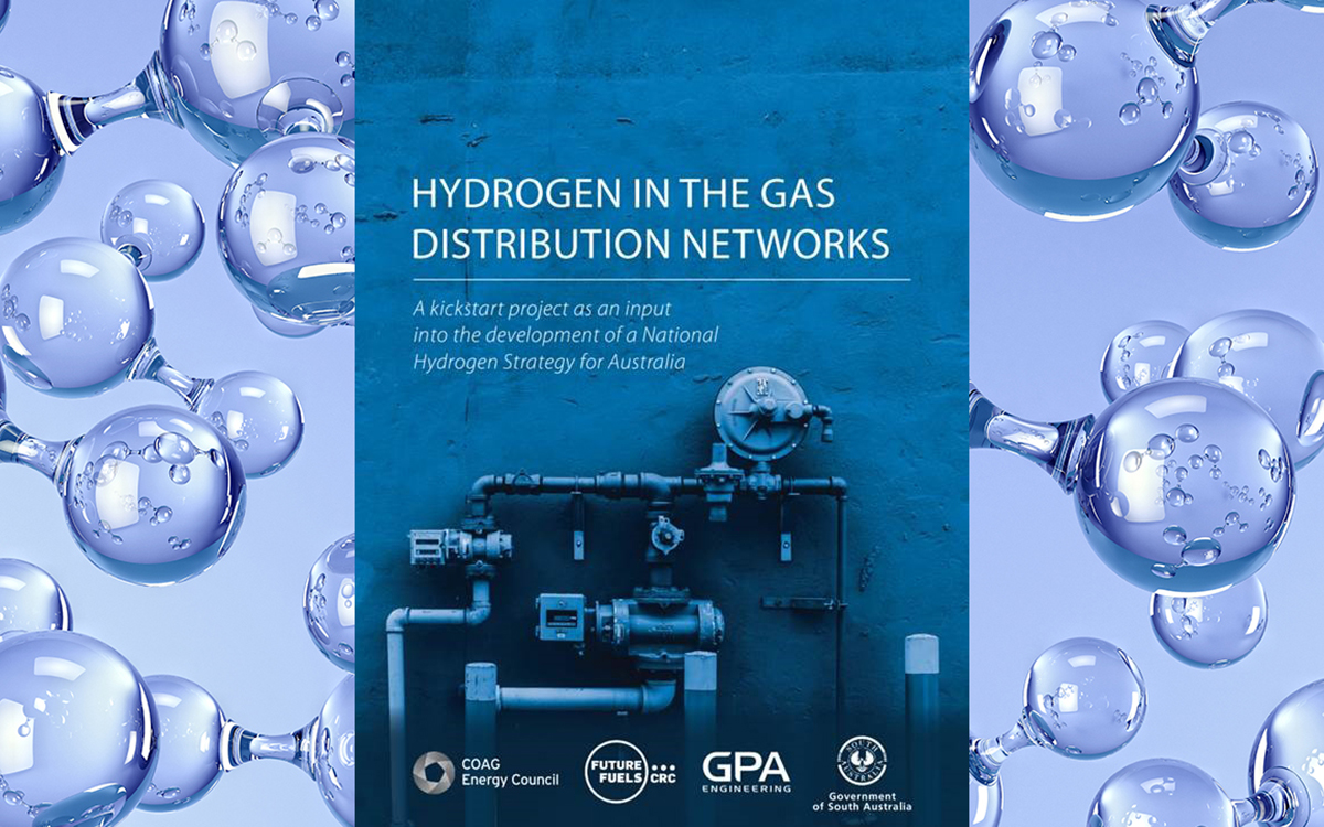 Hydrogen in the gas distribution network report cover