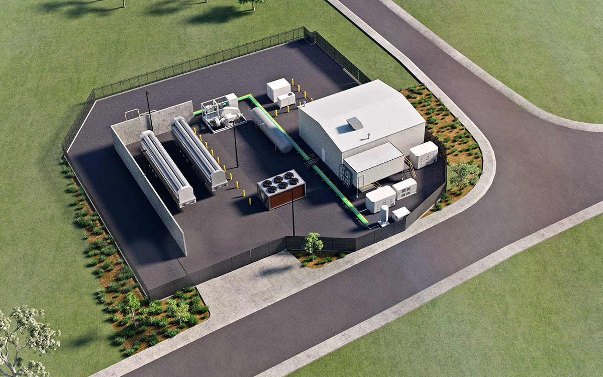 HyP SA Hydrogen Production and Injection Facility 3D CAD model