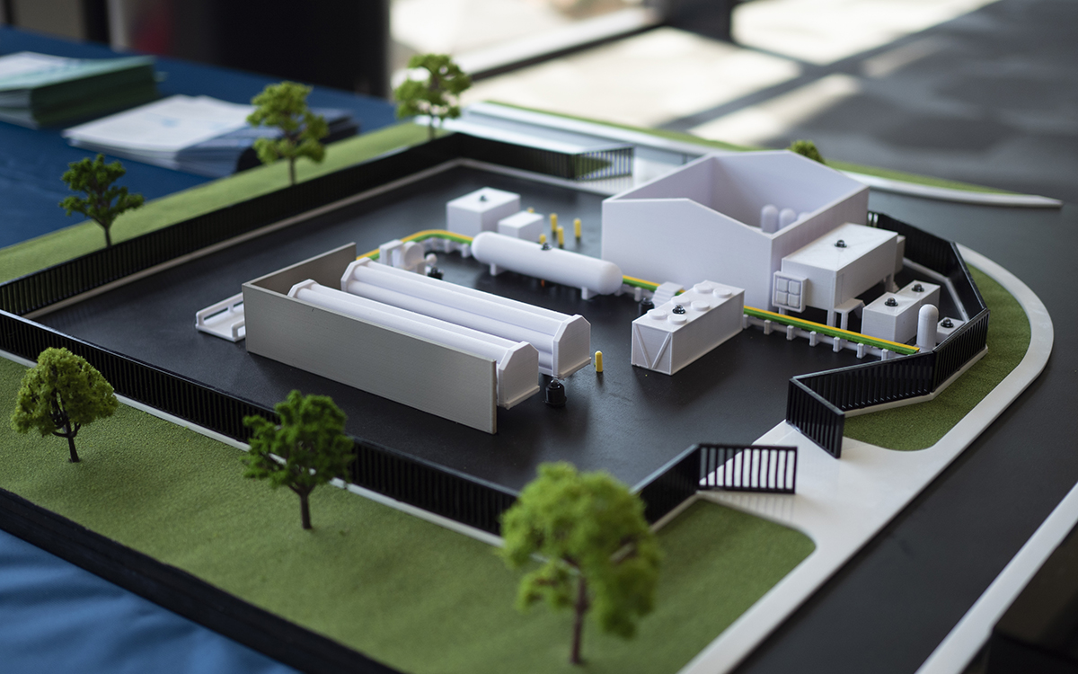 HyP SA Hydrogen Production and Injection Facility architectural model
